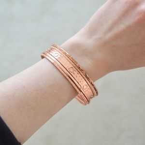Rose Gold Bangle Set